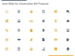 Icons Slide For Construction Bid Proposal Ppt Powerpoint Presentation File Vector