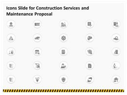 Icons Slide For Construction Services And Maintenance Proposal Ppt Gallery