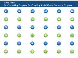 Icons Slide For Consulting Proposal For Creating Social Media Presence Proposal Ppt File Formats