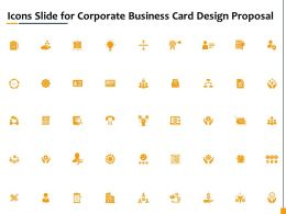 Icons Slide For Corporate Business Card Design Proposal Ppt Icon