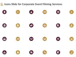 Icons Slide For Corporate Event Filming Services Ppt Topics