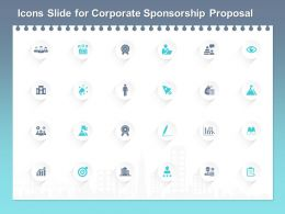 Icons Slide For Corporate Sponsorship Proposal Ppt Powerpoint Presentation Model