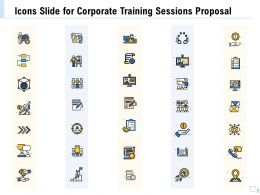 Icons Slide For Corporate Training Sessions Proposal Ppt Clipart