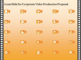 Icons Slide For Corporate Video Production Proposal Ppt Gallery