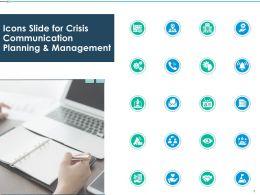 Icons Slide For Crisis Communication Planning Management Ppt Presentation Rules