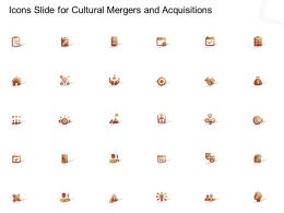 Icons Slide For Cultural Mergers And Acquisitions Ppt Powerpoint Presentation Styles Design