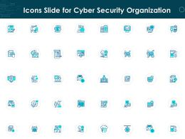 Icons Slide For Cyber Security Organization Ppt Powerpoint Presentation Model