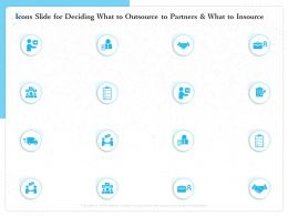 Icons Slide For Deciding What To Outsource To Partners And What To Insource Ppt Powerpoint Presentation Tips