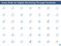 Icons Slide For Digital Marketing Through Facebook Digital Marketing Through Facebook Ppt Portrait