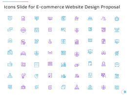 Icons Slide For E Commerce Website Design Proposal Ppt Powerpoint Presentation Portfolio