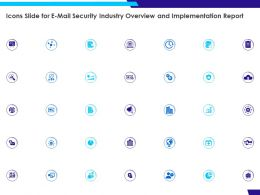 Icons Slide For E Mail Security Industry Overview And Implementation Report Ppt Powerpoint Slides