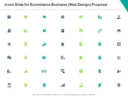 Icons Slide For Ecommerce Business Web Design Proposal Ppt Powerpoint Presentation Inspiration Format Ideas