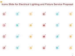 Icons Slide For Electrical Lighting And Fixture Service Proposal Ppt Powerpoint Presentation Icon Template