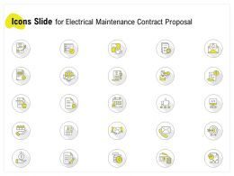Icons Slide For Electrical Maintenance Contract Proposal Ppt Powerpoint Objects
