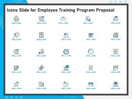 Icons Slide For Employee Training Program Proposal Ppt Powerpoint Presentation Styles Infographics