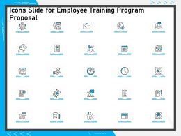 Icons Slide For Employee Training Program Proposal Ppt Presentation File Clipart Images