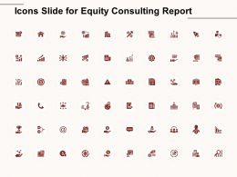Icons Slide For Equity Consulting Report Ppt Powerpoint Presentation Infographics Icons
