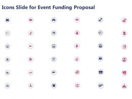 Icons Slide For Event Funding Proposal Ppt Powerpoint Presentation Gallery Slides
