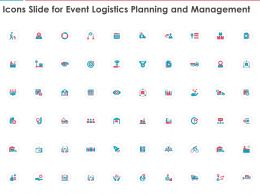 Icons Slide For Event Logistics Planning And Management Ppt Powerpoint Presentation Microsoft