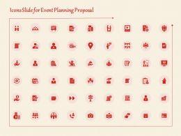 Icons Slide For Event Planning Proposal Ppt Powerpoint Presentation Slides