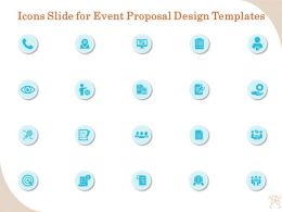 Icons Slide For Event Proposal Design Templates Ppt Gallery