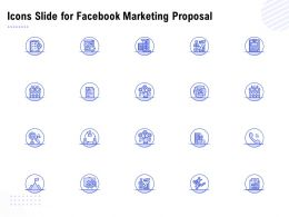 Icons Slide For Facebook Marketing Proposal Ppt Powerpoint Presentation Slides Diagrams