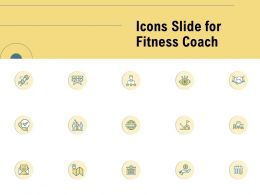 Icons Slide For Fitness Coach Ppt Powerpoint Presentation Templates