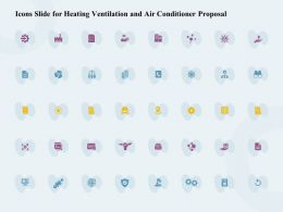 Icons Slide For Heating Ventilation And Air Conditioner Proposal Ppt Ideas