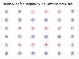 Icons Slide For Hospitality Industry Business Plan Hospitality Industry Business Plan Ppt Microsoft