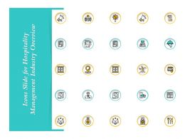 Icons Slide For Hospitality Management Industry Overview Ppts Styles Ideas