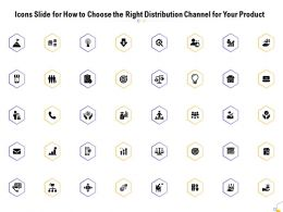 Icons Slide For How To Choose The Right Distribution Channel For Your Product Ppt Slides