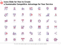 Icons Slide For How To Create A Sustainable Competitive Advantage For Your Service Ppt Slides
