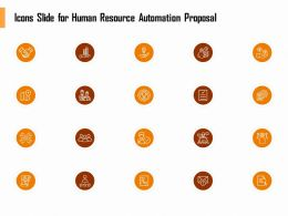 Icons Slide For Human Resource Automation Proposal Ppt Topics