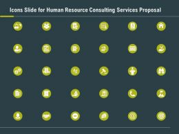 Icons Slide For Human Resource Consulting Services Proposal Ppt Slides Ideas