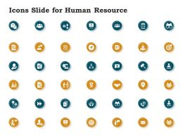 Icons Slide For Human Resource Ppt Powerpoint Presentation Pictures Influencers