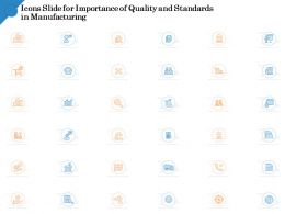 Icons Slide For Importance Of Quality Standards Manufacturing Ppt Shows