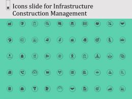 Icons Slide For Infrastructure Construction Management Ppt Powerpoint Presentation Introduction