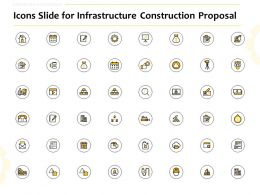 Icons Slide For Infrastructure Construction Proposal Ppt Powerpoint Inspiration