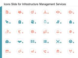 Icons Slide For Infrastructure Management Services Ppt Infographics