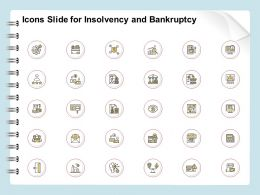 Icons Slide For Insolvency And Bankruptcy Ppt Powerpoint Gallery Outline