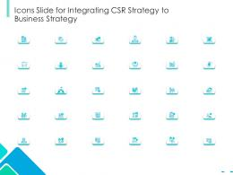 Icons Slide For Integrating CSR strategy To Business Strategy Ppt Diagrams
