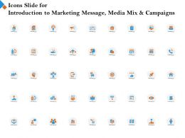 Icons Slide For Introduction To Marketing Message Media Mix And Campaigns Ppt Powerpoint Diagram