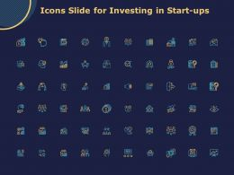 Icons Slide For Investing In Start Ups Ppt Powerpoint Presentation Gallery