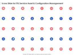 Icons Slide For ITIL Service Asset And Configuration Management Ppt Powerpoint Presentation Ideas