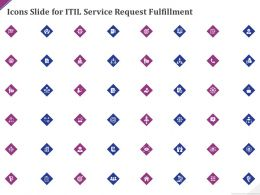 Icons Slide For Itil Service Request Fulfillment Ppt Powerpoint Presentation Styles Display