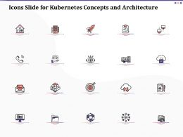 Icons Slide For Kubernetes Concepts And Architecture Ppt Visuals