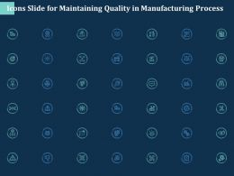 Icons Slide For Maintaining Quality In Manufacturing Process Ppt Powerpoint Presentation Slides
