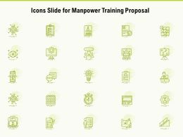Icons Slide For Manpower Training Proposal Ppt Powerpoint Presentation Portfolio Outline