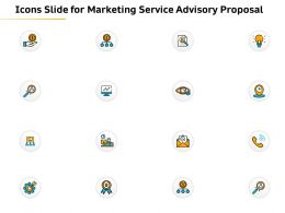 Icons Slide For Marketing Service Advisory Proposal Ppt File Display