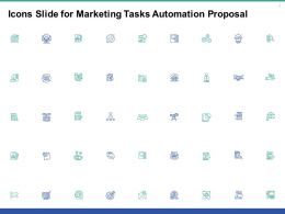 Icons Slide For Marketing Tasks Automation Proposal Ppt Powerpoint Presentation Model